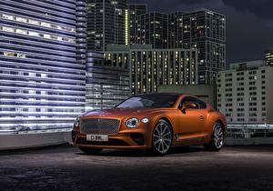Bilder Bentley Braune Continental automobil