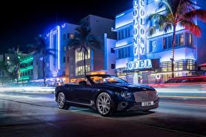 Bilder Bentley Cabrio Nacht Continental GT Convertible V8 2019 Autos