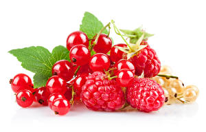 Image Berry Currant Raspberry White background