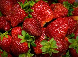 Fotos Beere Erdbeeren Hautnah Lebensmittel