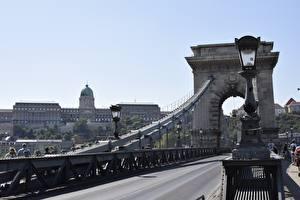 Tapety na pulpit Budapeszt Węgry Mosty Drogi Latarnia uliczna Luki