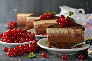 Fondos de Pantalla Pastel Ribes Plato Rojo Alimentos