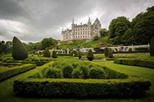 Bilder Burg Schottland Strauch Design Sutherland Dunrobin Castle Städte