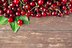 Wallpaper Cherry Berry Wood planks