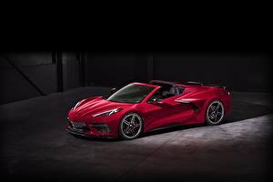 Bilder Chevrolet Roadster Rot 2020 Corvette C8 Stingray