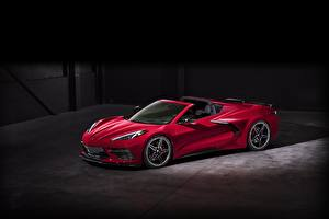 Bilder Chevrolet Roadster Rot 2020 Corvette C8 Stingray auto