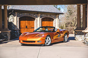 Picture Chevrolet Tuning Orange Convertible 2007 Corvette Convertible Indy 500 Pace Car Cars