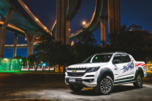 Images Chevrolet Tuning Pickup White 2019 Colorado High Country 4th of July Double Cab automobile