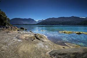 Bilder Chile Flusse Berg Küste Cisnes Patagonia Natur