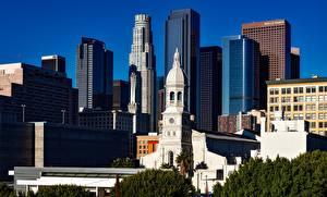 Sfondi desktop La chiesa Grattacielo Stati uniti Megalopoli California Los Angeles