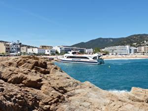 Hintergrundbilder Küste Resort Spanien Binnenschiff Catalonia, Costa Brava, province of Girona Städte