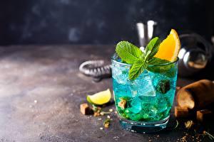 Hintergrundbilder Cocktail Trinkglas Eis Minzen das Essen