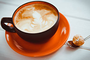 Fotos & Bilder Kaffee Cappuccino Tasse Untertasse Lebensmittel