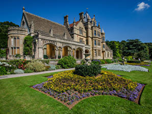 Picture England Houses Mansion Design Lawn Shrubs Tyntesfield Cities