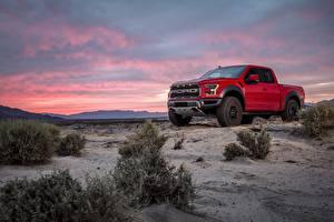 Fondos de Pantalla Ford Pickup Rojo F-150 Raptor Coches