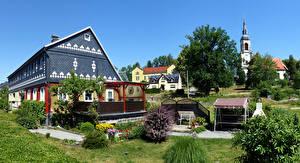 壁纸、、ドイツ、建物、邸宅、村、Wehrsdorf、