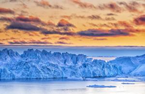 Bilder Grönland Himmel Bucht Eis Wolke