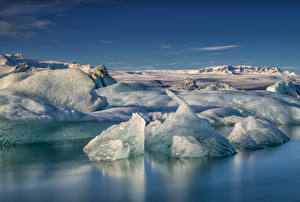 Bilder Island Küste Eis Natur