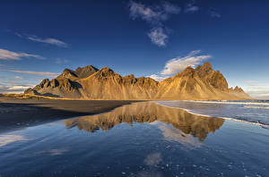 Bilder Island Küste Berg Spiegelt Natur