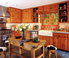 Fotos Innenarchitektur Design Küche Tisch Aus Holz