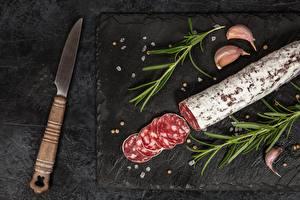 Image Knife Sausage Sliced food Food