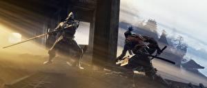 壁纸、、騎士、Sekiro: Shadows Die Twice、侍、剣、喧嘩、鎧、忍者、