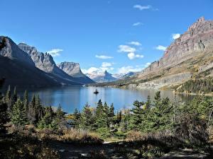 Fotos & Bilder See Gebirge Kanada Felsen Fichten Rocky Mountains, Lake Moraine, Alberta Natur