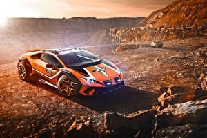 Bilder Lamborghini Fahrzeugtuning Orange