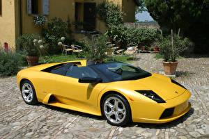 Fotos Lamborghini Gelb Roadster