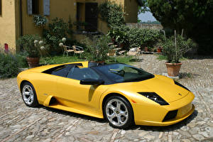 Image Lamborghini Yellow Roadster  automobile