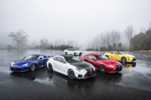 Desktop hintergrundbilder Lexus Viel Nass automobil