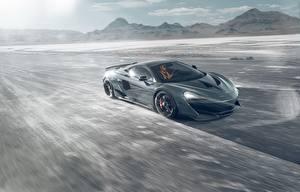 Wallpapers McLaren Motion Gray Novitec 600LT auto