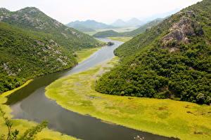 Fotos Montenegro Flusse Gebirge Felsen