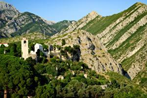 Fotos & Bilder Gebirge Wälder Montenegro Felsen town Bar, Barrier Riviera Städte