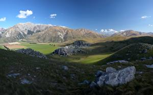 Fotos & Bilder Neuseeland Steine Gebirge Gras Hügel Castle Hill, sanctuary of Cura Tahiti Natur