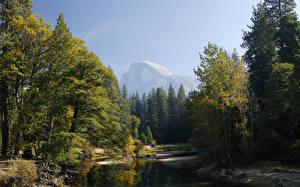Fotos Parks Herbst Fluss Wälder Vereinigte Staaten Yosemite Kalifornien Sierra Nevada mountains, Mariposa County Natur