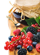 Images Jam Currant Blackberry Blueberries Raspberry Jar Food
