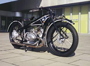 Hintergrundbilder Retro BMW - Motorrad Schwarz 1928-30 R 63 Motorräder