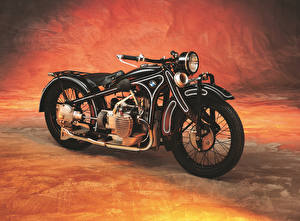 Bilder Antik BMW - Motorrad Schwarz 1929-35 R 11 Motorrad