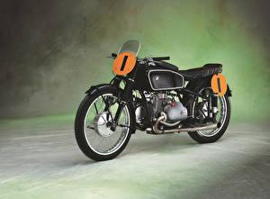 Fotos Antik BMW - Motorrad Schwarz 1939 RS 500 Kompressor (Type 255) Motorrad