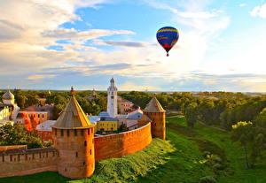 Fotos Russland Denkmal Fesselballon Flug Turm Novgorod Kremlin, Novgorod, Novgorod region