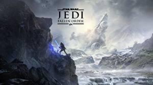 壁纸、、スター・ウォーズ、岩、Star Wars Jedi: Fallen Order、ゲーム