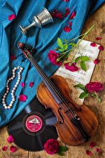 Hintergrundbilder Stillleben Violine Noten Rosen Schmuck Kronblätter Weinglas Blüte
