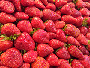 Image Strawberry Many Closeup Texture