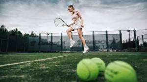 Fotos Tennis Bein Sprung Katrin Sarkozy, Anton Harisov Sport Mädchens