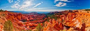 Picture USA Sky Landscape photography Parks Cliff Bryce Canyon National Park Nature