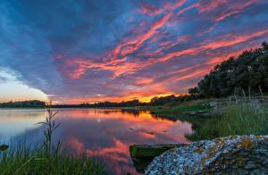 Fotos Vereinigtes Königreich Küste Sonnenaufgänge und Sonnenuntergänge Himmel Flusse Poole harbour