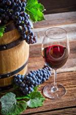 Wallpaper Wine Grapes Stemware Food