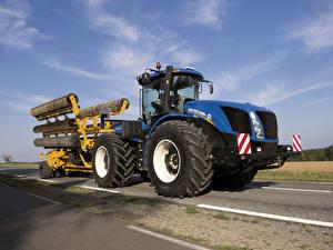 Papel de Parede Desktop Maquinaria agrícola Trator 2015-19 New Holland T9.565
