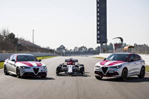 Bilder Alfa Romeo Fahrzeugtuning Drei 3 Giulia Quadrifoglio, C38, Stelvio Quadrifoglio auto